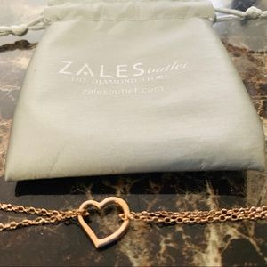 10' Double Chain 10KT Rose Gold Anklet from Zales